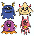 monster character design colorful cartoon vector image