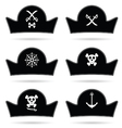 pirate hat set in black vector image