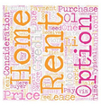 Rent To Own Homes Explained text background vector image vector image