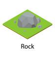 rock icon isometric style vector image