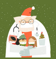 santa claus wearing a protective mask and doctor s vector image vector image