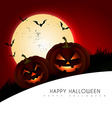 scary halloween design vector image vector image
