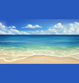 sea beach sand and wave realistic background vector image vector image