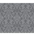 Seamless elegant damask pattern Grey vector image vector image