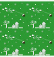 seamless pattern of winter seasonchristmas design vector image vector image