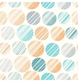 Seamless pattern with hand drawn polka dot vector image