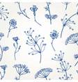 Seamless vintage pattern with herbs flowers vector image vector image