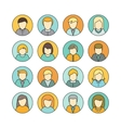 Set of Private Avatar Icon vector image