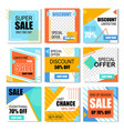set of special discount posters social media vector image vector image