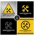 set of under construction symbols vector image vector image