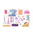sewing supplies set vector image vector image