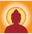 Silhouette Buddha against the sun vector image vector image