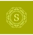 Simple Monogram S vector image vector image