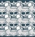 skull cartoon seamless pattern skeleton head vector image vector image