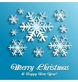Snowflakes background vector image