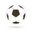 soccer football ball vector image vector image