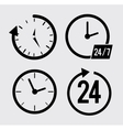 Time design icon set Flat vector image
