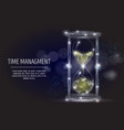 time management geometric polygonal art vector image