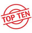 top ten rubber stamp vector image vector image