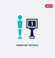 two color american football icon from concept vector image vector image