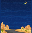 vertical nature scene or landscape countryside vector image vector image