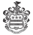 washington family coat of arms is said to be in vector image vector image