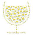 wine glass icon figure vector image