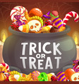 Witch cauldron halloween trick or treat candies
