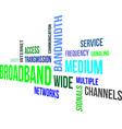 word cloud broadband vector image vector image