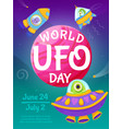 world ufo day poster vector image