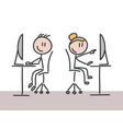 a man and a woman working in an office vector image