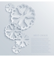 modern snowflakes light background vector image