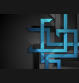 abstract blue black technology corporate vector image vector image