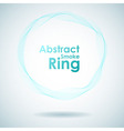 Abstract cyan smoke ring design element vector image vector image