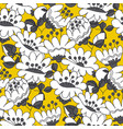 abstract white flowers hand drawn seamless pattern vector image vector image