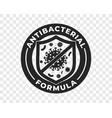 antibacterial hand gel icon shield and virus logo