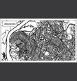 asuncion paraguay city map in black and white