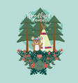 bear woodland animals woodland animals vector image vector image