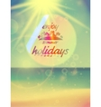 Beautiful seascape and sun vector image
