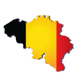 belgium flag map vector image vector image