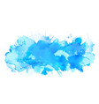 blue watercolor big blot spread to the light vector image vector image