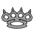 brass knuckles logo vector image