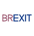 Brexit from flags of Europe and United Kingdom vector image vector image
