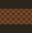 brown batik pattern vector image vector image