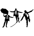business men on rope vector image vector image