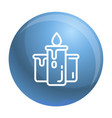 candle icon outline style vector image vector image