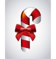 Candy and bowtie icon Merry Christmas design vector image vector image