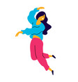 cheerful dancing girl rejoices life a vector image vector image