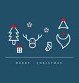 christmas decoration flat design background vector image vector image
