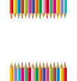 colorful pencil frame vector image vector image